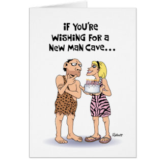 Man Cave Birthday Greeting Card