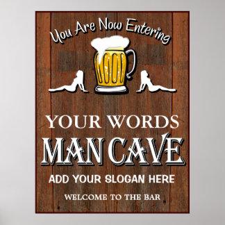 Man Cave Custom Bar Sign