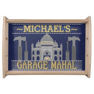 Man Cave Funny Garage Mahal Tools | Custom Name Serving Tray
