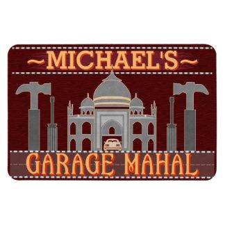 Man Cave Funny Garage Mahal Tools | Custom Name V2 Magnet