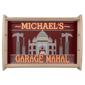 Man Cave Funny Garage Mahal Tools | Custom Name V2 Serving Tray