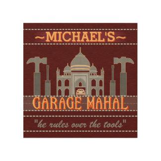 Man Cave Funny Garage Mahal Tools | Custom Name V2 Wood Wall Art