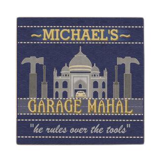 Man Cave Funny Garage Mahal Tools | Custom Name Wood Coaster