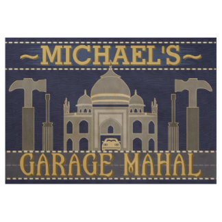 Man Cave Funny Garage Mahal Tools | Custom Name Wood Poster