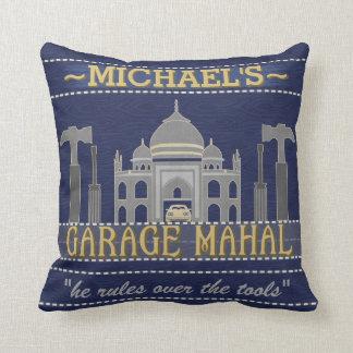 Man Cave Garage Mahal Funny Humor for Men | Custom Throw Pillow