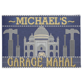 Man Cave Garage Mahal Funny Tools | Custom Name Doormat