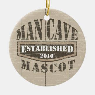 Man Cave Mascot - Established (add year) Christmas Ornament