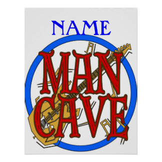 Man Cave, NAME add text Poster