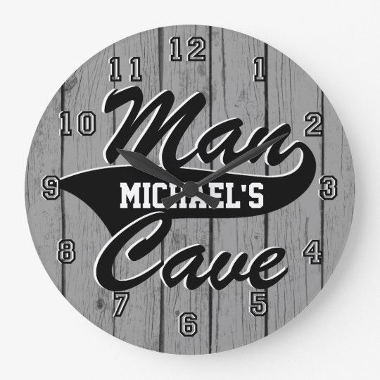 Man Cave Personalise Large Clock