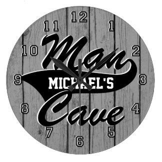 Man Cave Personalize Clocks