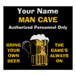Man Cave Poster ADD YOUR NAME