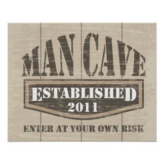 Man Cave Poster - Established 2011