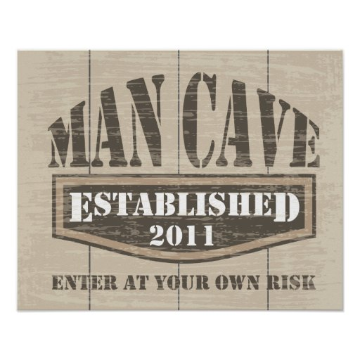 Man Cave Poster - Established 2011