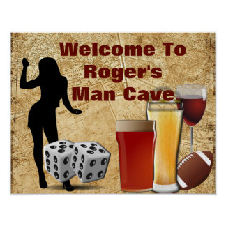MAN CAVE PRINT -Welcome - Personalized