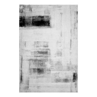 'Man Cave Worthy' Black and White Abstract Art Poster