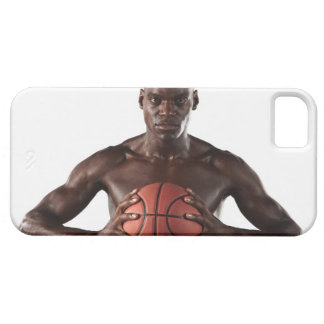 Man clutching basketball case for the iPhone 5