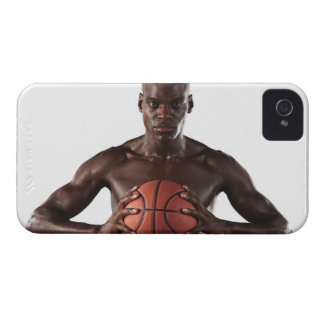 Man clutching basketball iPhone 4 cases