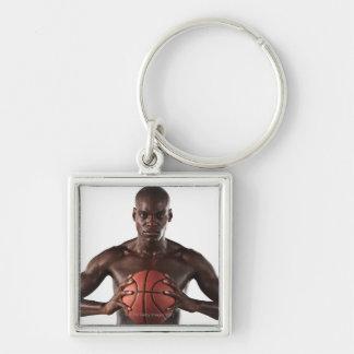 Man clutching basketball key ring