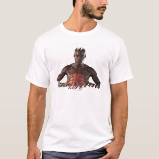 Man clutching basketball T-Shirt