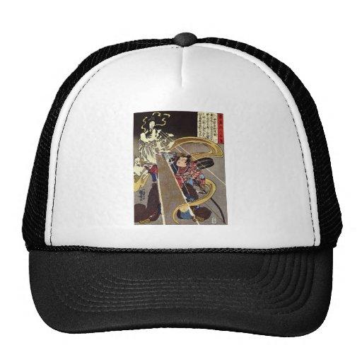 Man Confronting Fox Goddess Apparition Trucker Hats
