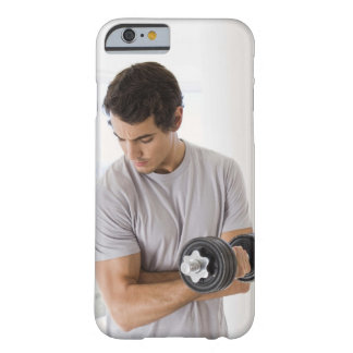 Man doing arm curls with weights barely there iPhone 6 case