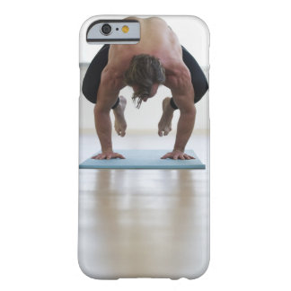 Man doing workout on yoga mat barely there iPhone 6 case