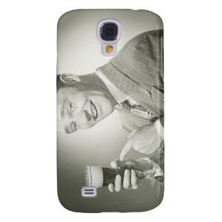 Man Drinking Galaxy S4 Case