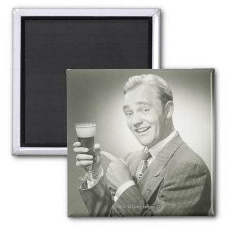 Man Drinking Magnet