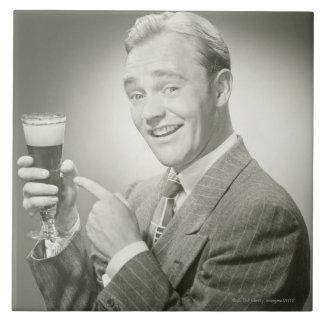 Man Drinking Tile