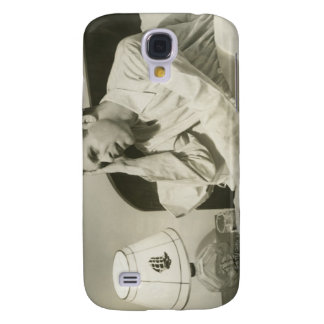 Man Drinking Water Galaxy S4 Case