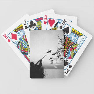 Man Duck Hunting Bicycle Playing Cards