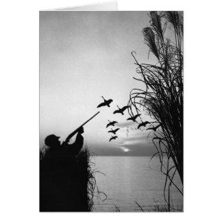 Man Duck Hunting Card