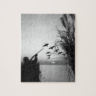 Man Duck Hunting Jigsaw Puzzle
