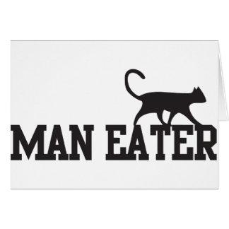 Man eater greeting cards