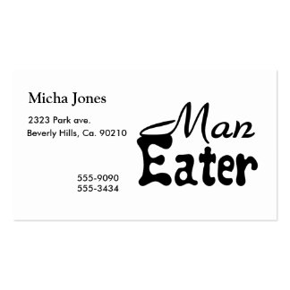 Man Eater Pack Of Standard Business Cards