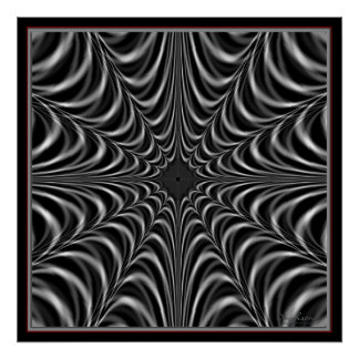 Man-Eater Spider Web Poster
