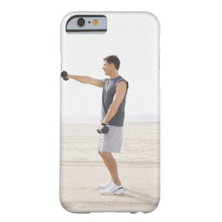 Man Exercising on Beach Barely There iPhone 6 Case