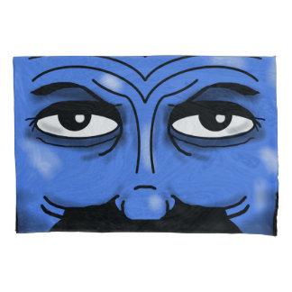 MAN EYES BLUE by Slipperywindow Pillowcase