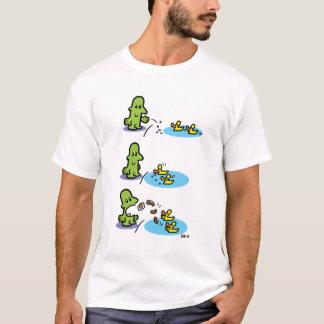 Man feeds ducks, ducks feed man. T-Shirt