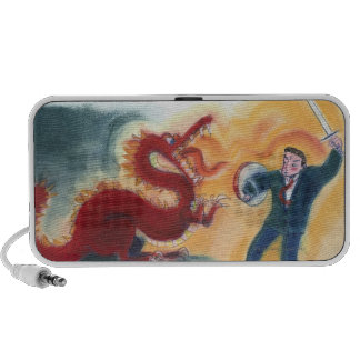 Man Fighting Dragon Speaker System