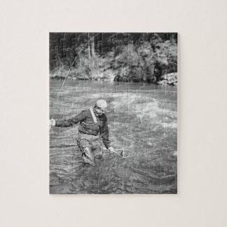Man Fishing Jigsaw Puzzle