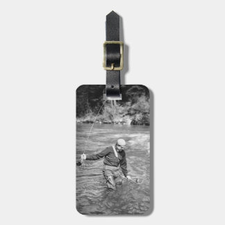 Man Fishing Luggage Tag