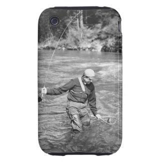 Man Fishing Tough iPhone 3 Covers