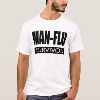 MAN-FLU SURVIVOR. T-Shirt