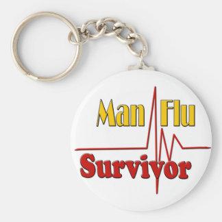 Man Flu Survivor Theme Key Ring
