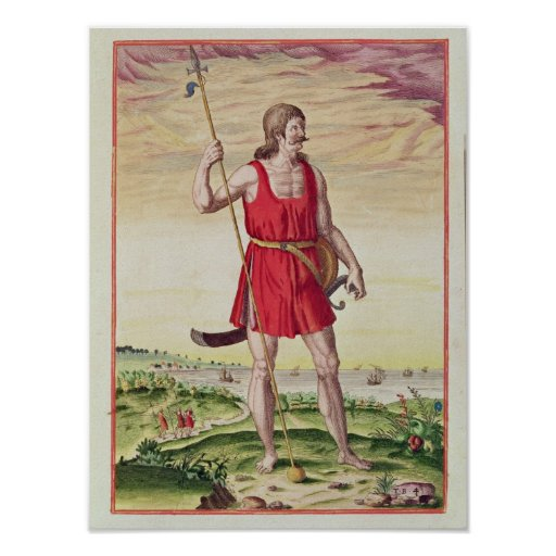 Man from a Neighbouring Tribe to the Picts Print