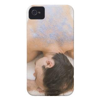 Man getting salt rub iPhone 4 Case-Mate case