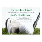 Man Golf Birthday Invitation