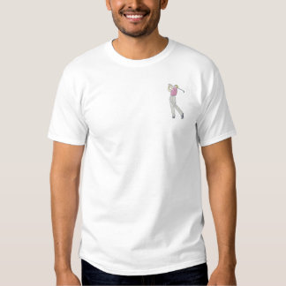 Man Golfer Embroidered T-Shirt