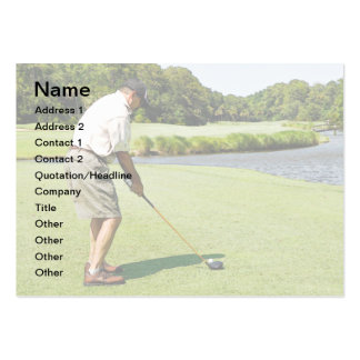 man golfing pack of chubby business cards